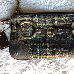 Coach handbag and matching clutch